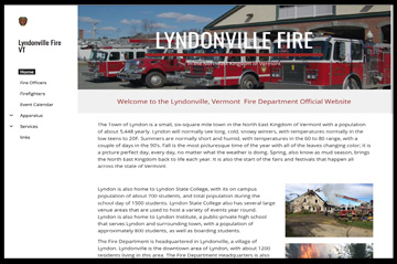 Lyndonville fire website